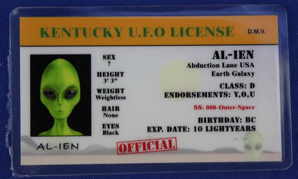 Kentucky U.F.O. License