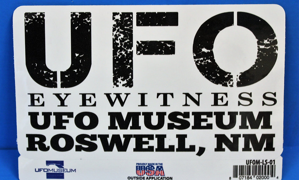 UFO Eyewitness LARGE Sticker