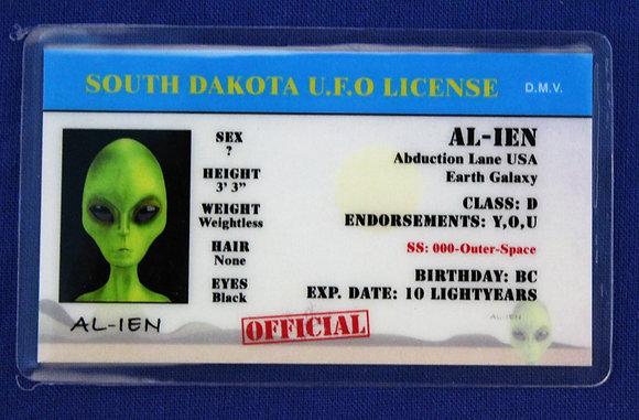 South Dakota U.F.O. License
