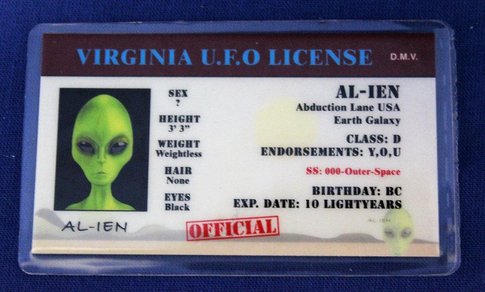 Virginia U.F.O. License