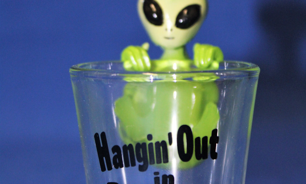 Hangin' Out Shot Glass
