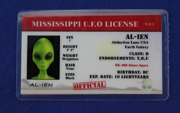 Mississippi U.F.O. License
