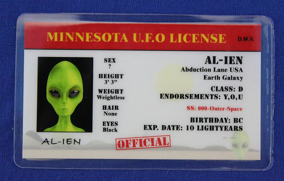 Minnesota U.F.O. License