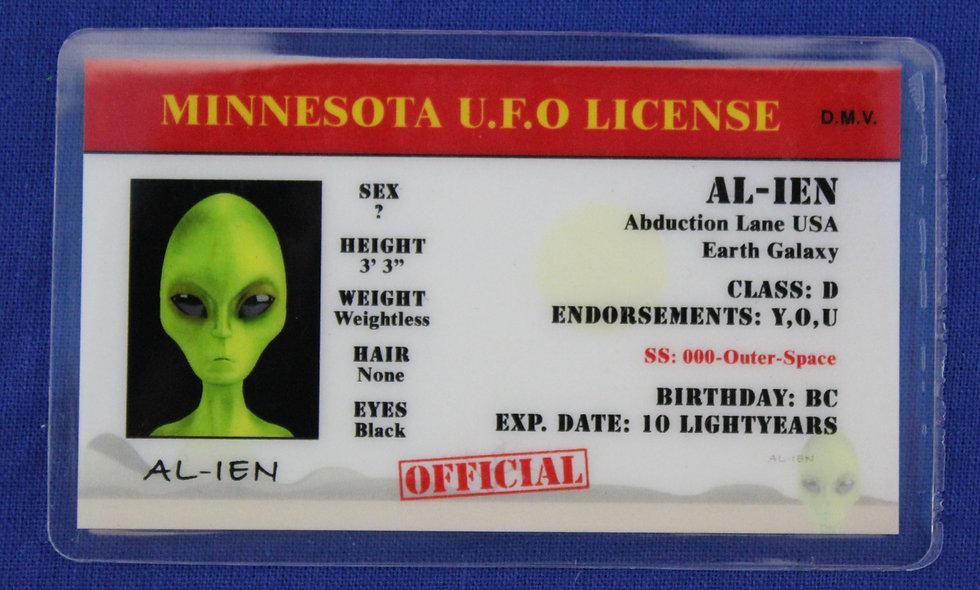 Minnesota U.F.O. License