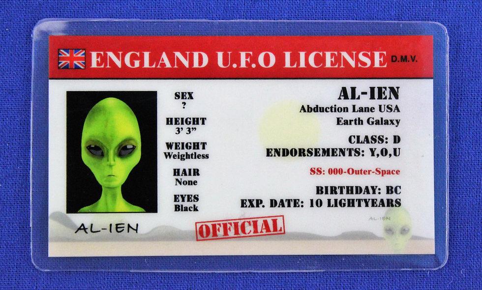 England U.F.O. License