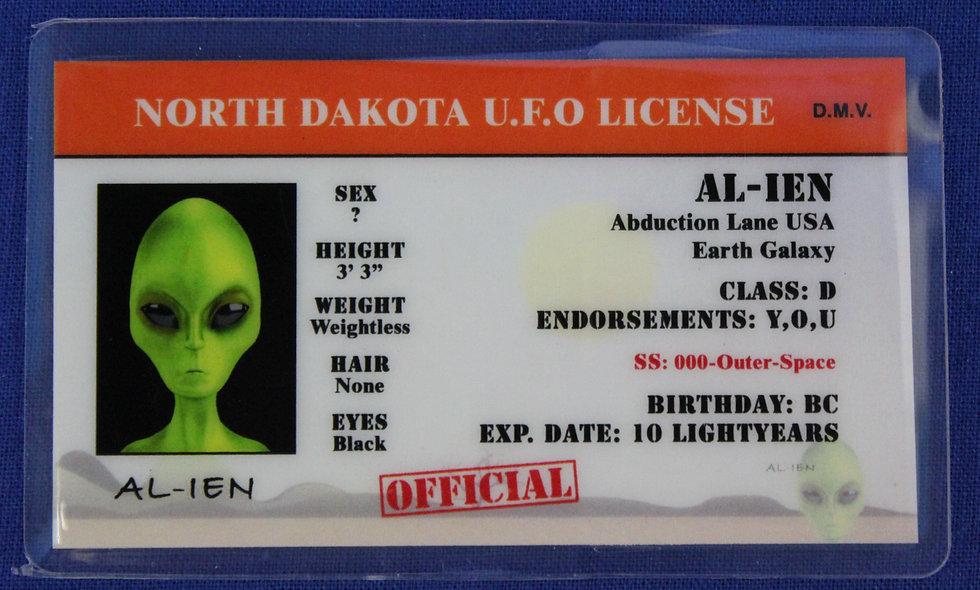 North Dakota U.F.O. License