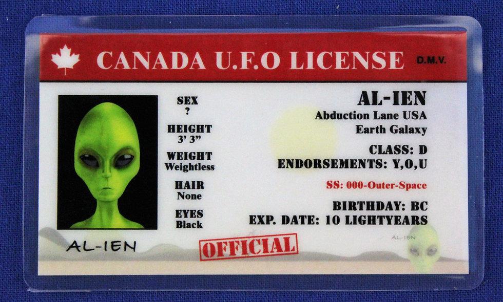Canada U.F.O. License