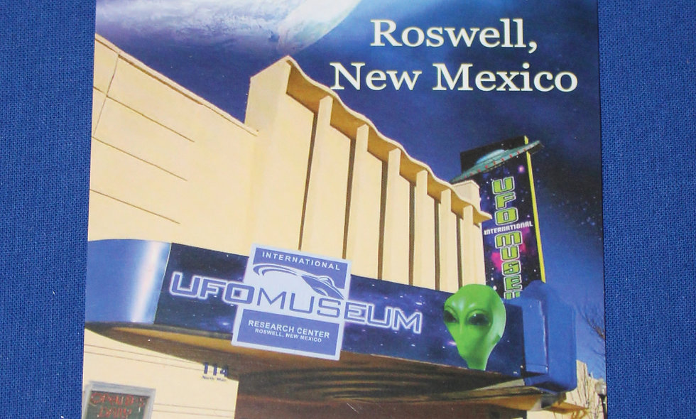 International UFO Museum Postcard