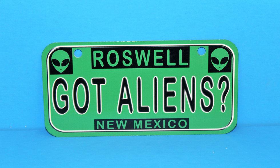 Got Aliens Bike Plate