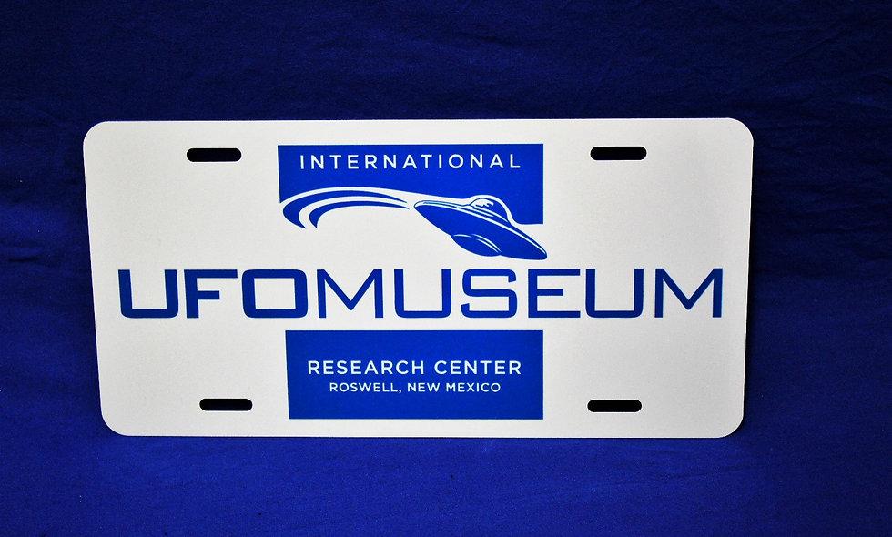 UFO Museum Logo License Plate