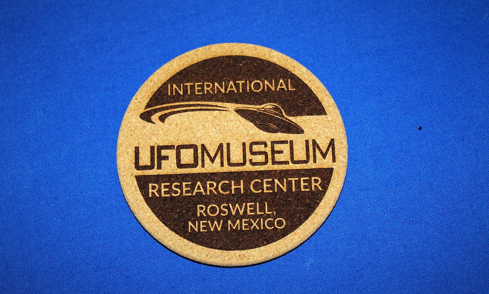 UFO Museum Round Logo Coaster