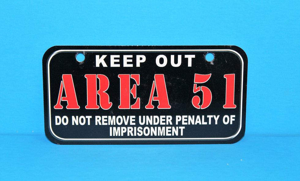 Area 51 Keep Out Bike Plate