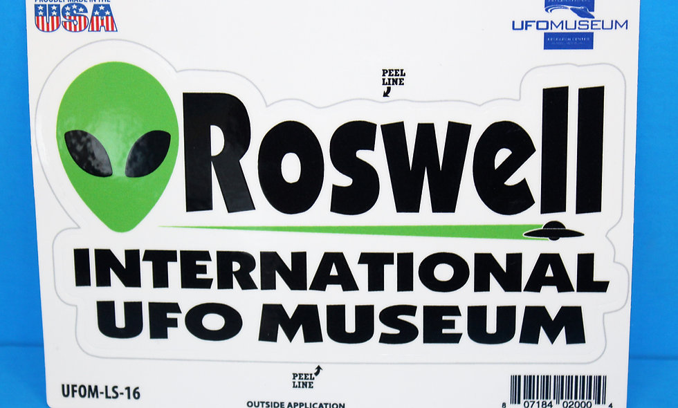 Roswell Alien Space LARGE Sticker