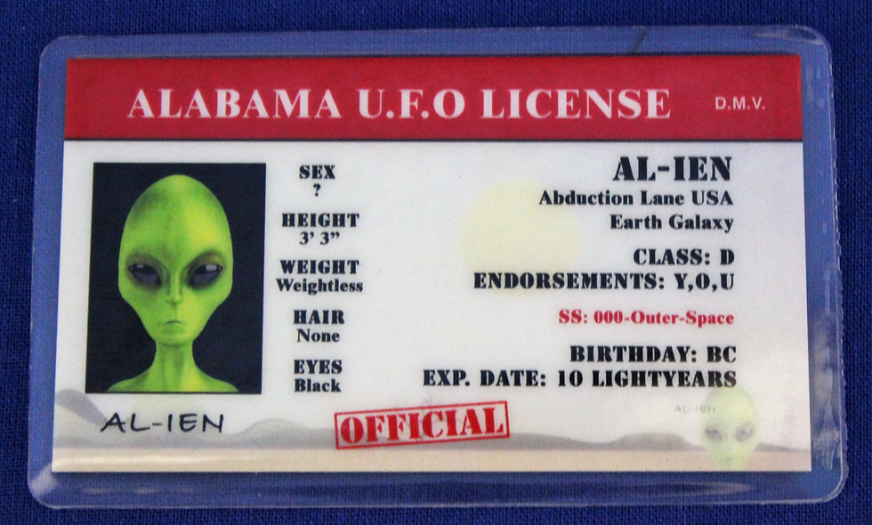 Alabama U.F.O. License