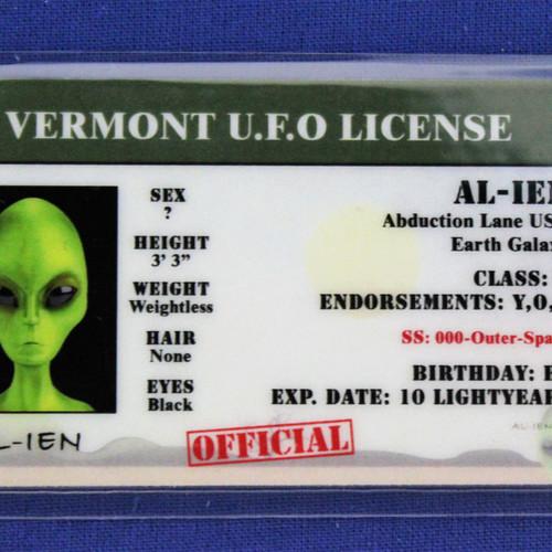 Vermont U f o License