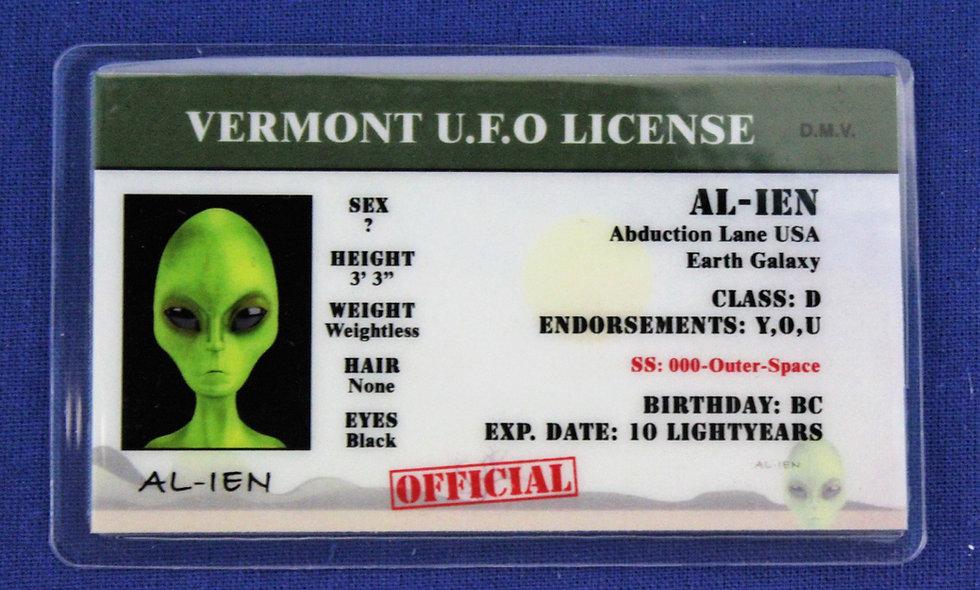 Vermont U.F.O. License
