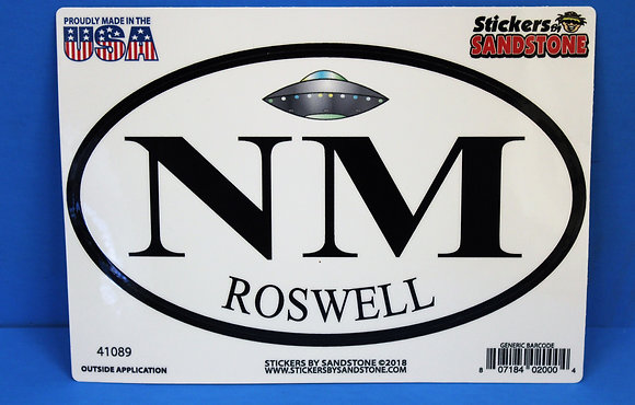 NM Roswell Oval LARGE Sticker
