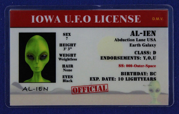 Iowa U.F.O. License