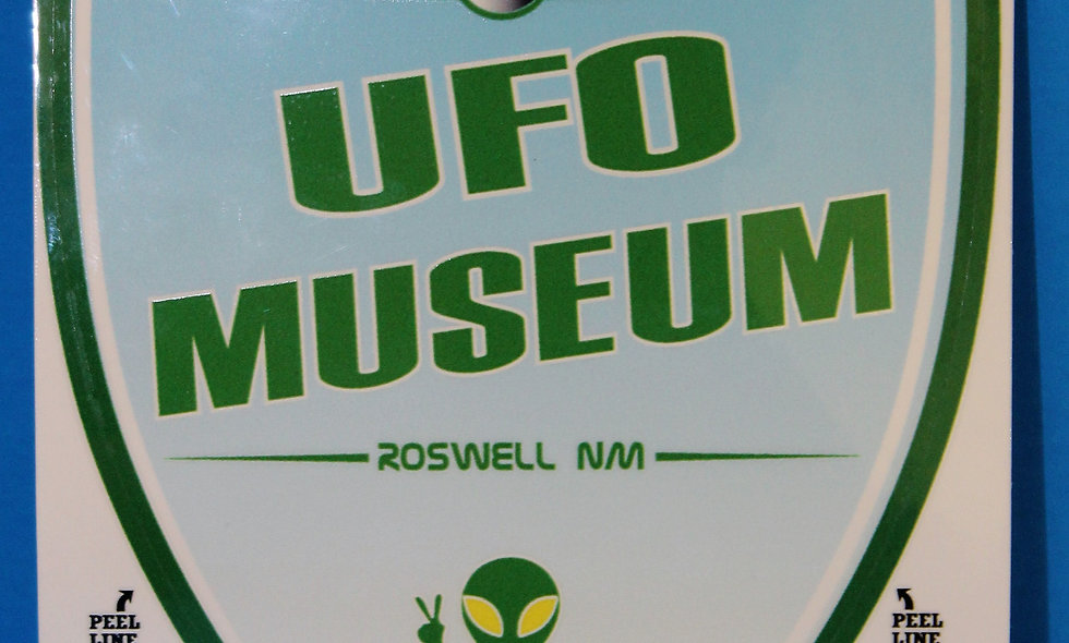 Shield UFO Museum LARGE Sticker