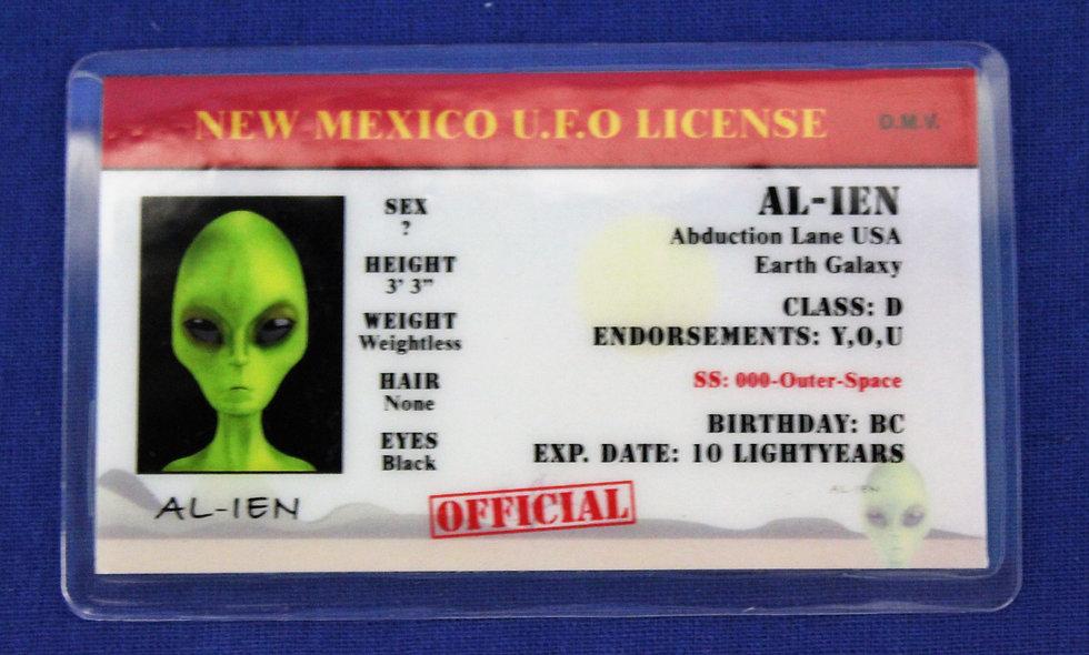 New Mexico U.F.O. License