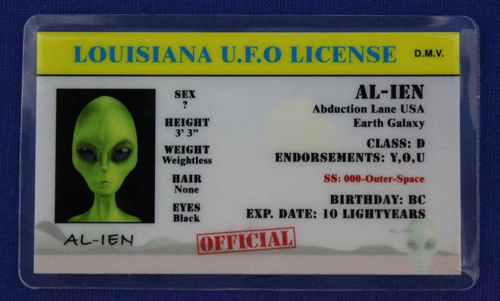 Louisiana U.F.O. License