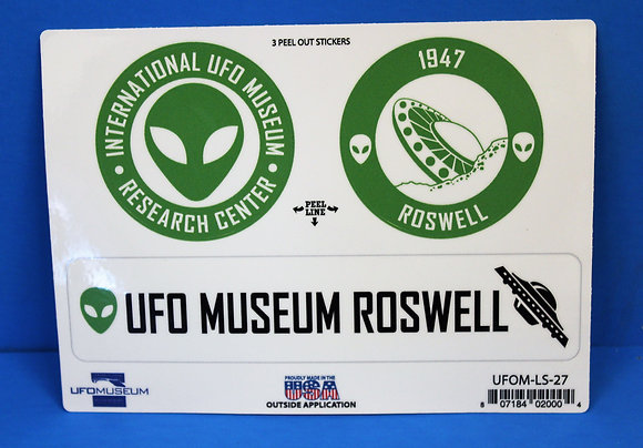 UFO Museum 3-Up MEDIUM Stickers