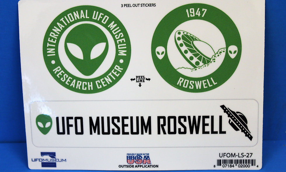 UFO Museum 3-Up MEDIUM Stickers
