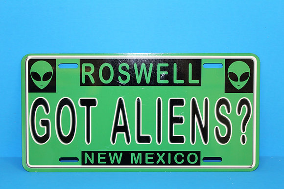 Got Aliens License Plate