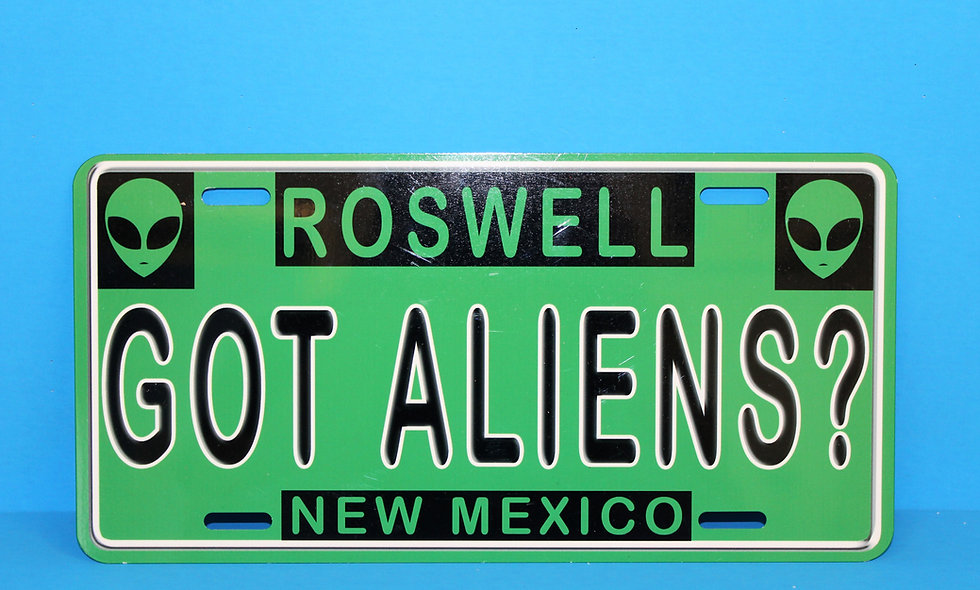 Got Aliens License Plate