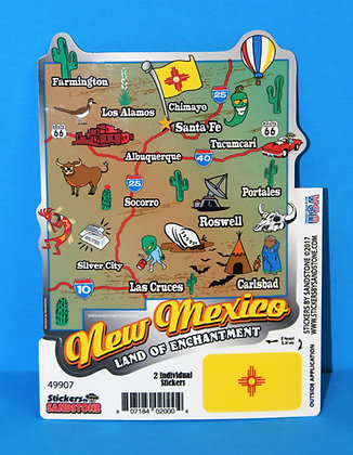 NM Map LARGE Sticker