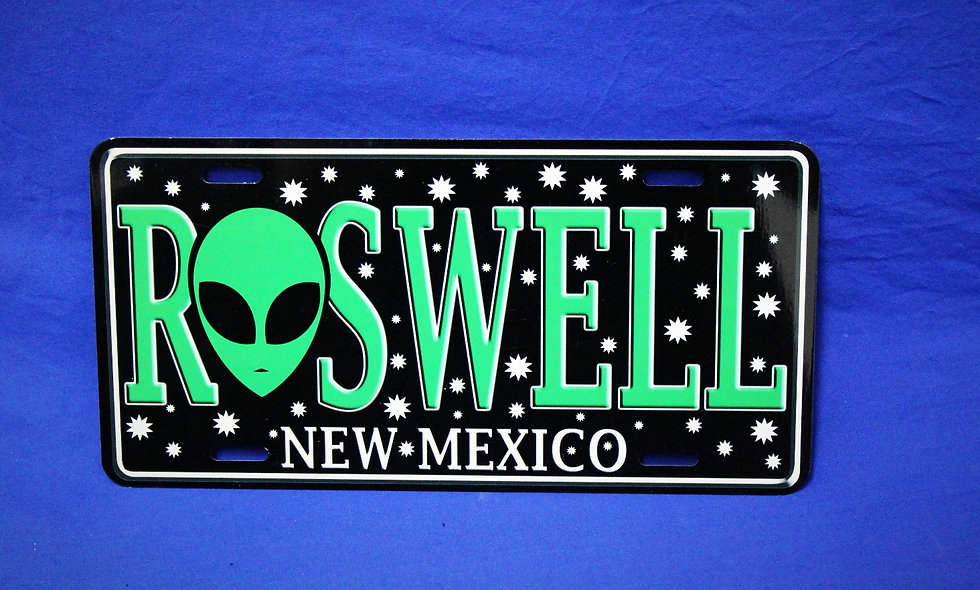 Roswell License Plate