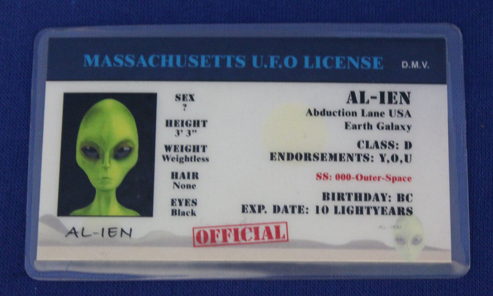 Massachusetts U.F.O. License