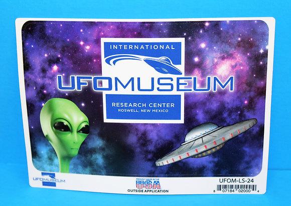 Museum Logo w/Alien LARGE Sticker