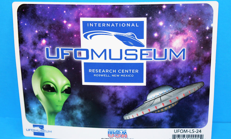 Museum Logo w/Alien LARGE Sticker