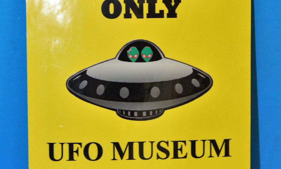 Alien Parking LARGE Sticker