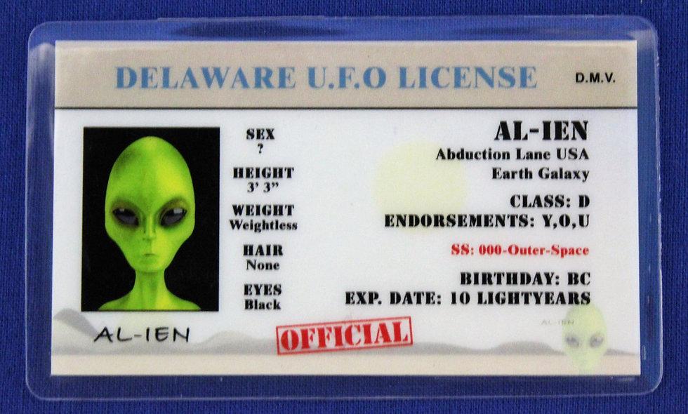 Delaware U.F.O. License