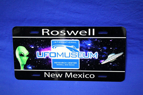 Logo License Plate with Alien