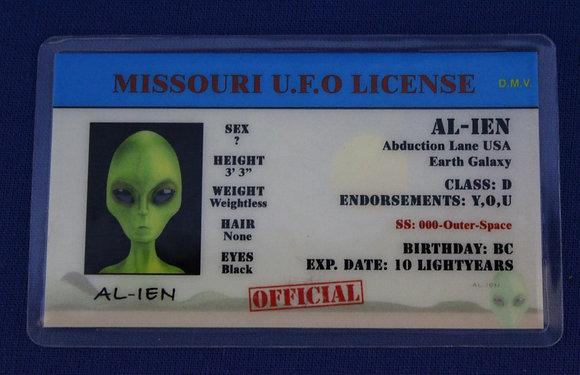 Missouri U.F.O. License