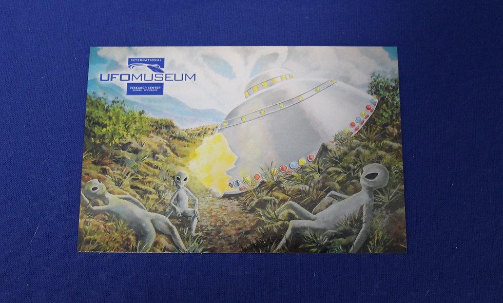 Library Mural Postcard