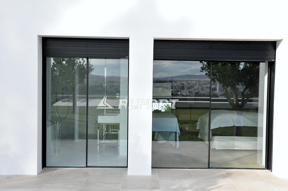 Κουφώματα λεπτού προφίλ, κρυφά κουφώματα , λεπτά κουφώματα, minimal αλουμινια, minimal aluminium window frames,Minimal Frame Windows, minimalist windows, frameless sliding windows
