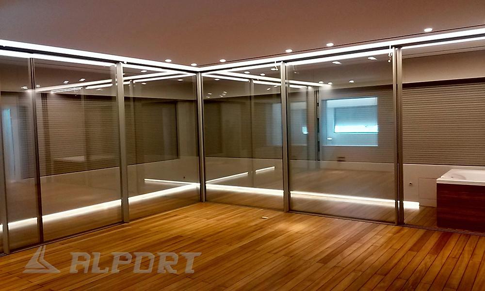 Αυτόματο γωνιακό κούφωμα , γωνιακό κούφωμα αλουμινιου με minimal προφιλ,Κουφώματα λεπτού προφίλ, κρυφά κουφώματα , λεπτά κουφώματα, minimal αλουμινια, minimal aluminium window frames,Minimal Frame Windows, minimalist windows, frameless sliding windows