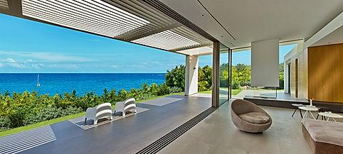 Μεγάλα συρόμενα κουφώματα αλουμινίου χωρίς πλαίσιο.Ολοκληρώθηκαν οι εργασίες τοποθέτησης ενεργειακών minimal κουφωμάτων λεπτού προφίλ σε μονοκατοικία στην Ζάκυνθο,minimal aluminium windows, minimal αλουμινια