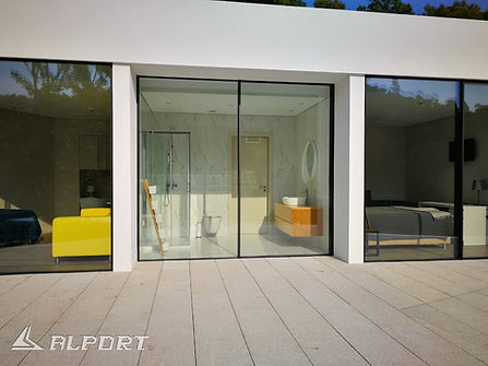 less frame , minimal frame, minimal aluminium ,minimal sliding ,λεπτά κουφώματα αλουμινίου, μεγάλα ανοίγματα, μεγάλες διαστάσεις
