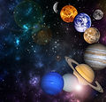 planets in the row Solar system in the s