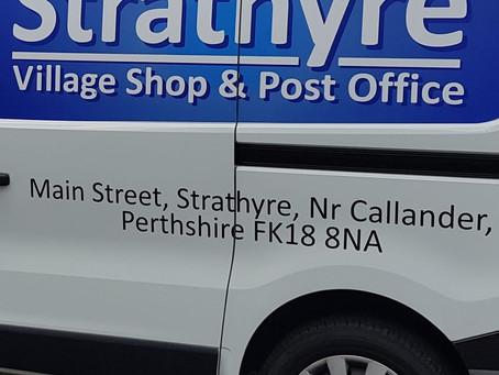STRATHYRE VILLAGE SHOP UPDATES