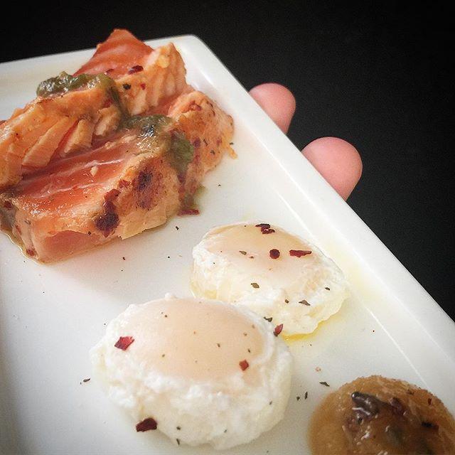 A Salmon, Quail Eggs and Truffle Honey B