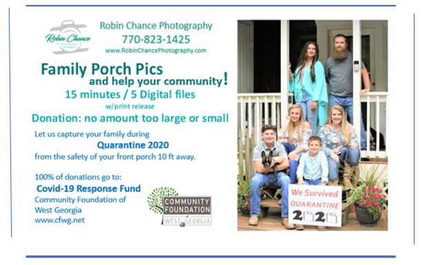 Family Porch Pictures for Charity