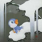 志水堅二《 雪中竹舞利鳥図》