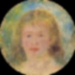 オーギュスト・ルノワール《マドモアゼル》 油彩・セメントボード 4号楕円 1877年