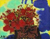 三岸節子《 花》